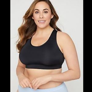 New Catherines Plus Size Black Racerback Bra 48D